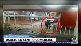 Cámaras de seguridad captan asalto a centro comercial en Edomex