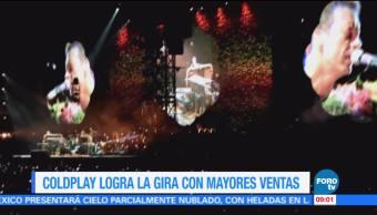 #LoEspectaculardeME: Coldplay logra la gira con mayores ventas