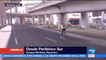 Evento de ciclistas afectó circulación vial en Periférico Sur