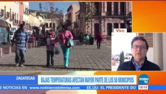 Bajas temperaturas afectan 58 municipios de Zacatecas