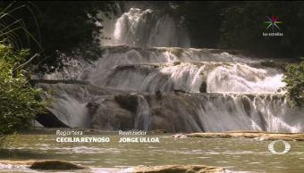 Rehabilitan las Cascadas de Agua Azul