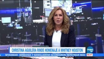 #LoEspectaculardeME: Christina Aguilera rinde homenaje a Whitney Houston