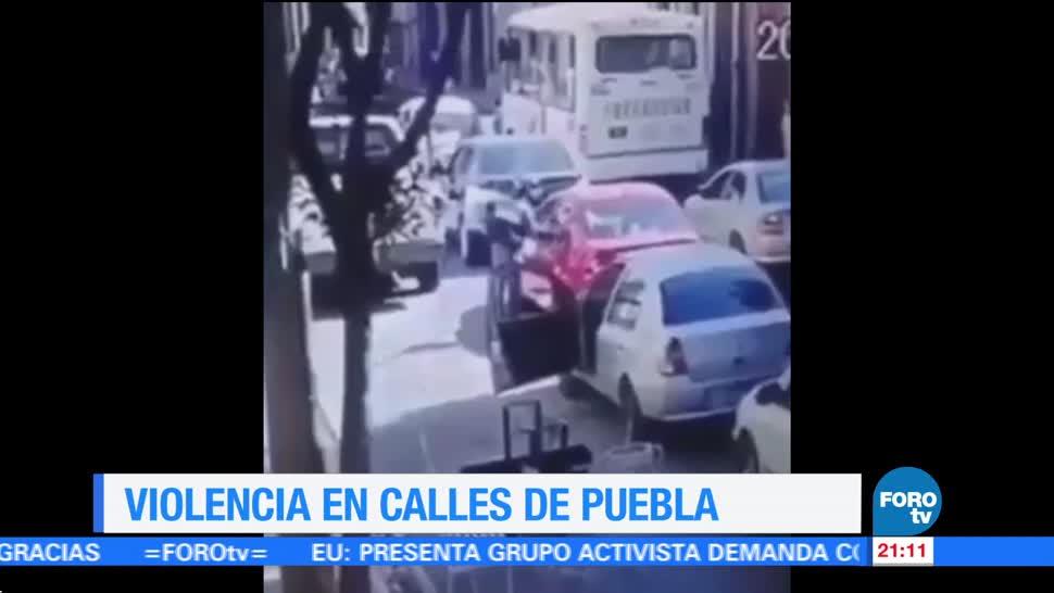 Violencia en las calles de Puebla