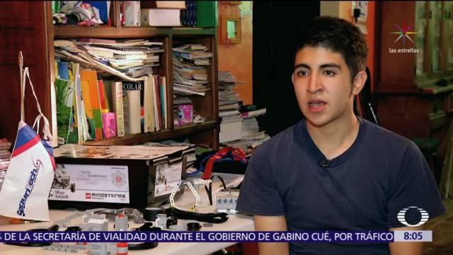 Mexicano participa en Olimpiada de Robótica aunque su escuela se dañó tras sismo
