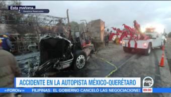Se registra accidente en la autopista México-Querétaro