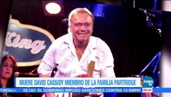 #LoEspectaculardeME: Muere David Cassidy miembro de 'La familia Partridge'