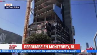 Derrumbe en Monterrey deja al menos un muerto