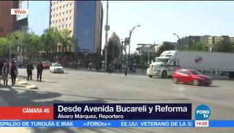 Se reabre la circulación sobre Paseo de la Reforma