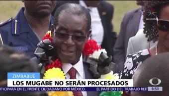 Robert Mugabe no será procesado por delitos de corrupción o represión
