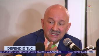 Carlos Salinas de Gortari defiende el TLCAN