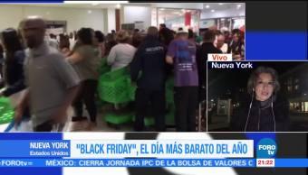 Miles abarrotan tiendas en NY por el 'Black Friday'