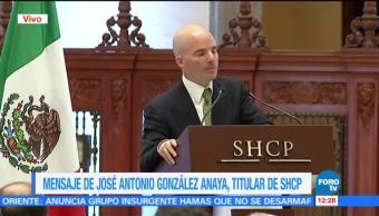 José Antonio González Anaya toma posesión de la SHCP