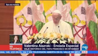 Papa Francisco evita nombrar a la comunidad de los rohinyás