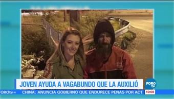 Extra Extra: Joven ayuda a vagabundo que la auxilió