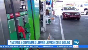 Liberación de precios de las gasolinas