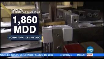 Banxico asigna 500 mdd en coberturas cambiarias