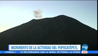 Cráter interno del volcán Popocatépetl aumentó sus dimensiones