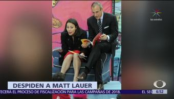 NBC News despide a Matt Lauer por acusación de conducta sexual inapropiada
