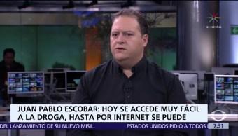 Juan Pablo, hijo del capo Pablo Escobar, en el estudio de Despierta