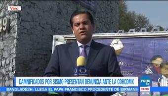 Damnificados del sismo 19S presentan denuncia ante la CDHCDMX