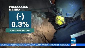 Baja el volumen de la producción minera