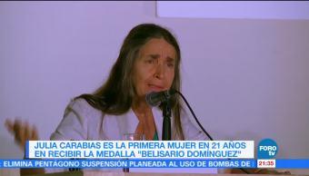 Julia Carabias, primera mujer en 21 años en recibir Medalla Belisario Domínguez