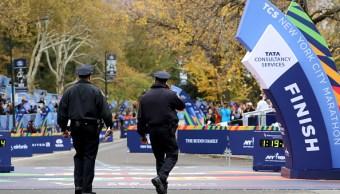 Maratón de Nueva York se corre bajo estrictas medidas de seguridad