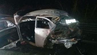 Accidente en la autopista Córdoba Veracruz deja dos lesionados