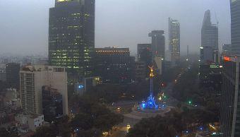 amanece con neblina la ciudad de méxico