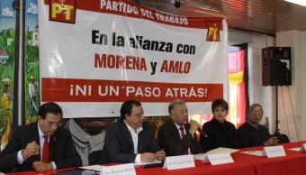 PT reitera que sigue en pie su alianza con Morena