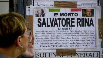 Anuncio de la muerte de Salvatore 'Toto' Riina, líder de la mafia siciliana