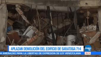 Aplazan Demolición Edificio Ubicado Saratoga 714