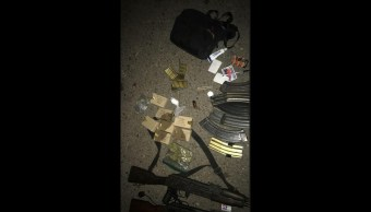 Aseguran armas de grueso calibre en Culiacán; hay 5 detenidos