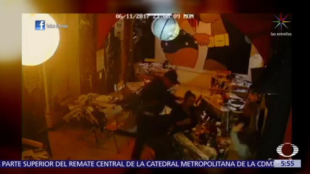 difunden video asalto restaurante colonia portales