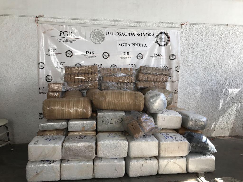 Aseguran más de 800 kilos de marihuana en Sonora