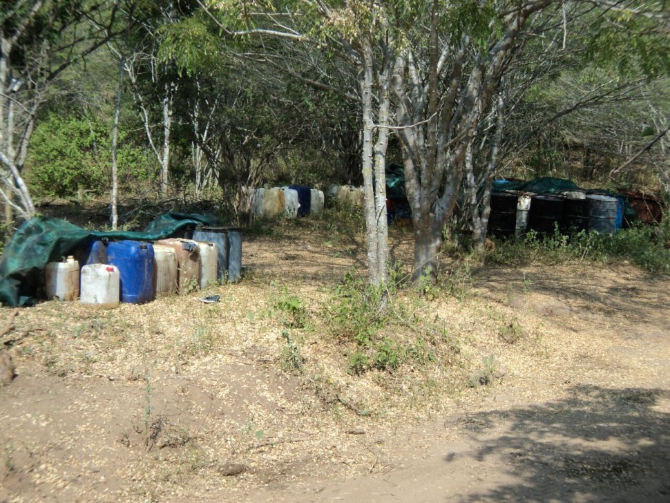 Aseguran narcolaboratorios rústicos en Arteaga, Michoacán