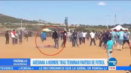 Asesinan Hombre Durante Partido Futbol Zacatecas