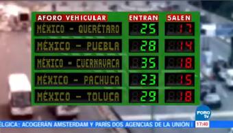 Aumenta Regreso Vacacionistas CDMX Autopista México-Cuernavaca