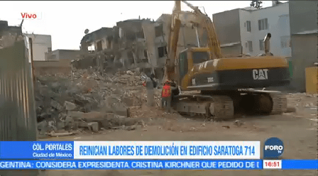 Avanza Demolición Edificio Saratoga Sismo Del 19-S CDMX