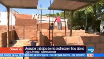Avanzan Trabajos Reconstrucción Sismos Septiembre Chiapas Juan Álvarez