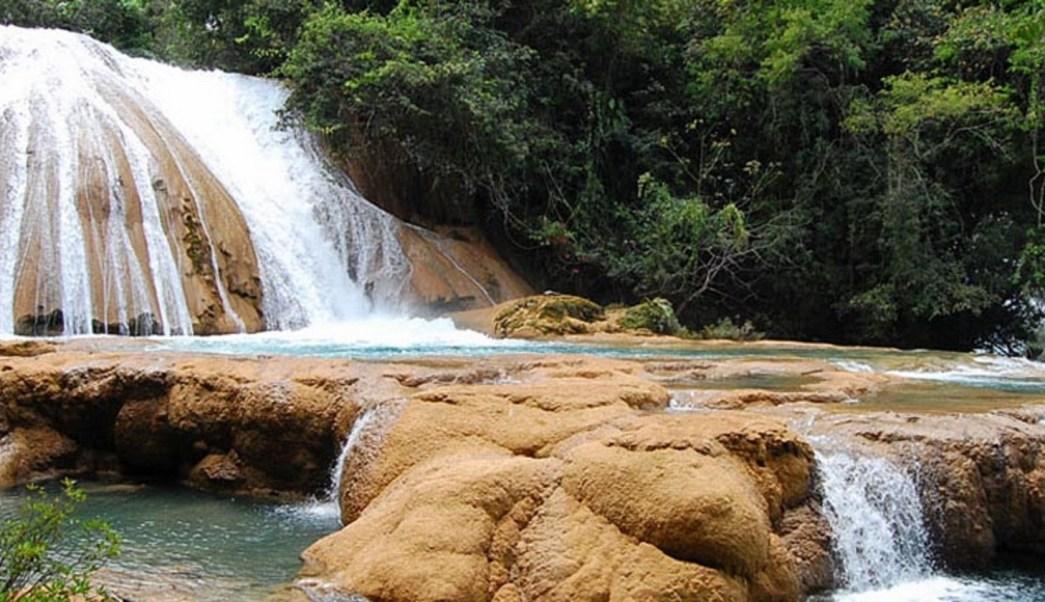 Tras sismo del 7s cascadas de agua azul se est n secando for Motor para cascada de agua