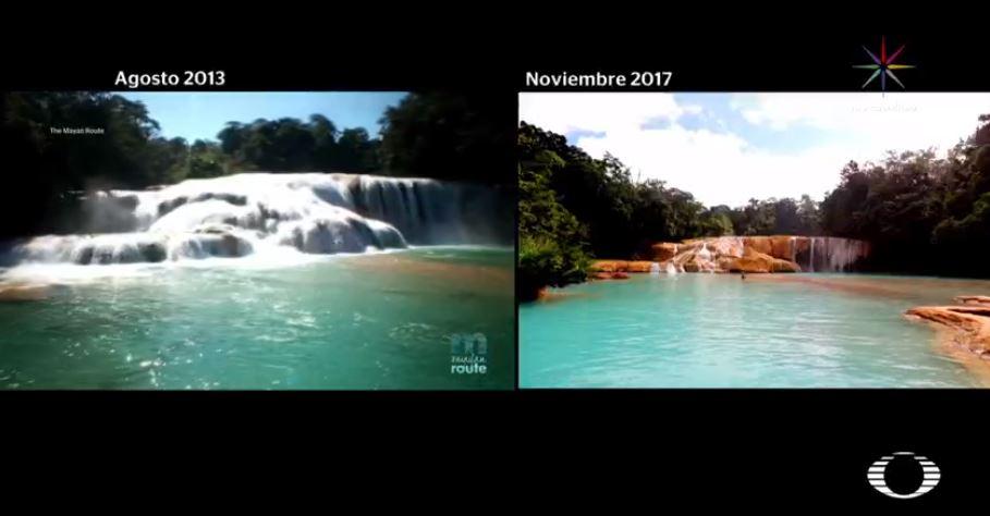 Cascadas de Agua Azul en Chiapas se secan