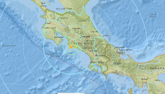 Sismo de magnitud 6.5 sacude la costa de Costa Rica