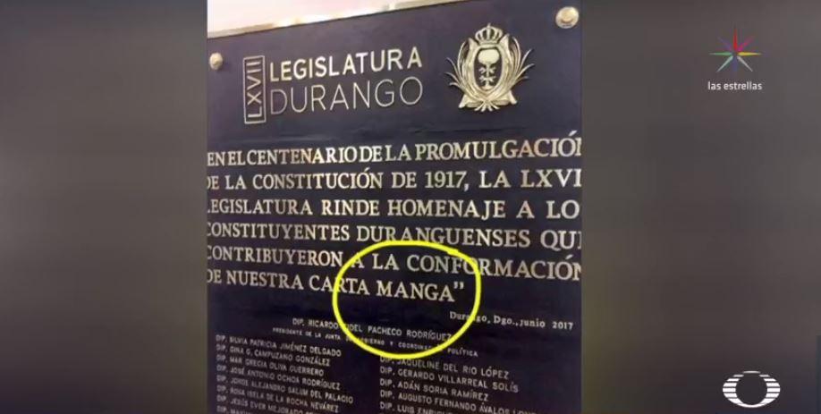 Congreso de Durango conmemora centenario de la Carta