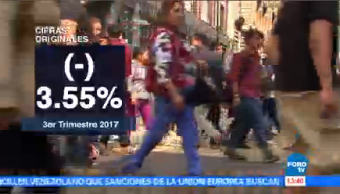Disminuye Tasa Desocupación México Inegi