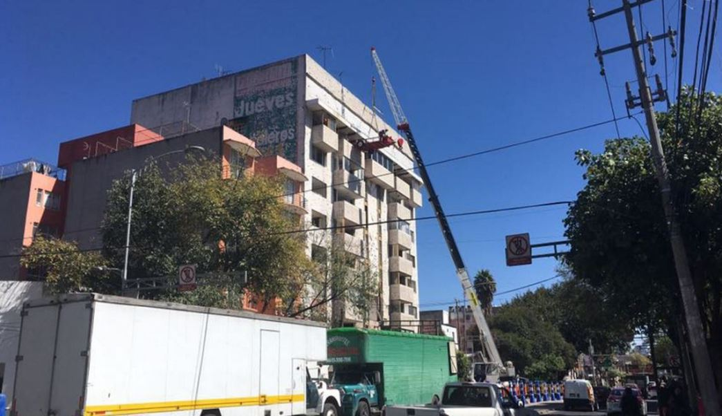edificio dañado por el sismo del 19 de septiembre