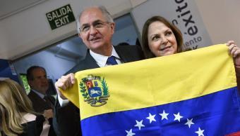 El opositor venezolano, Antonio Ledezma ofrece conferencia de prensa en Madrid