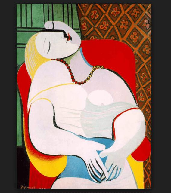 'El sueño', de Pablo Picasso. (https://elespiritudelchemin.wordpress.com)