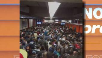Falla mecánica causa retrasos en la Línea 7 del Metro CDMX