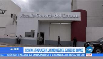Fiscalía de Jalisco confirma liberación de trabajador de Derechos Humanos